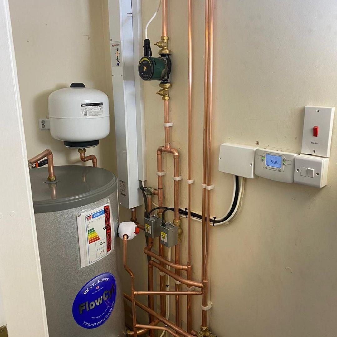 Boiler installation for customer in Worcester